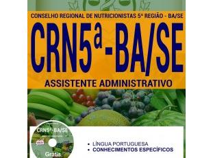 Apostila de Estudo Concurso CRN 5ª Região BA/SE – 2017, cargo: Assistente Administrativo