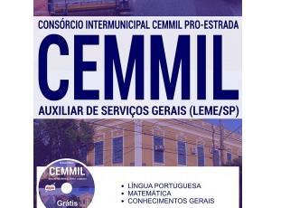 Apostila Auxiliar de Serviços Gerais da Seleção Pública CEMMIL PRO-ESTRADA / SP – 2017