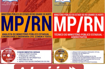 Apostilas Técnico e Analista do Concurso Público do MP / RN – 2017