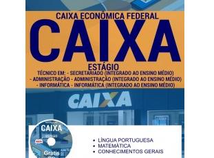 Apostila Processo Seletivo Estágio Remunerado CAIXA – 2017, cargo: Estagiário de Nível Médio/Técnico