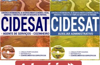 Apostilas Processo Seletivo CIDESAT / MT – 2017, cargos: Auxiliar Administrativo, Agente de Serviços e Cozinheiro
