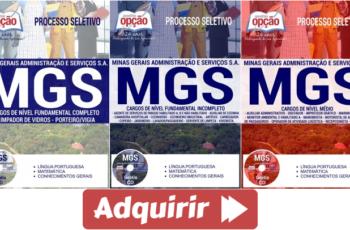 Apostilas Processo Seletivo Público MGS / MG – 2017, cargos: Comum a Diversos Empregos