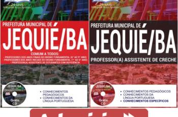 Apostilas de Estudo Seleção Pública Prefeitura Municipal de Jequié / BA – 2017, cargos: Professores em Todas as Áreas – Especialidades