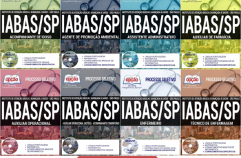 Apostilas Processo Seletivo IABAS / SP – 2017, Diversos Empregos