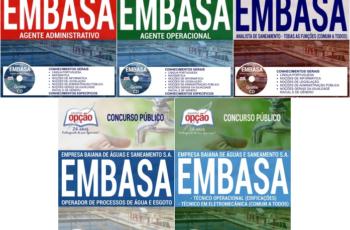 Apostilas Concurso EMBASA / BA – 2017, nos cargos de: Assistente e Analista de Saneamento – Várias Especialidades
