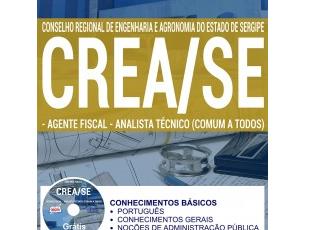 Apostila Concurso CREA / SE – 2017, comum aos cargos de: Agente Fiscal e Analista Técnico
