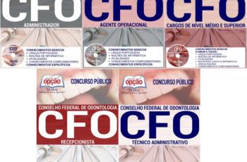 Apostilas Concurso Conselho Federal de Odontologia – CFO / Brasília-DF / 2017, Diversos Empregos