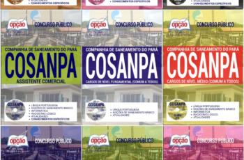 Apostilas Concurso Público COSANPA – 2017, cargos: Comum a Diversos Empregos