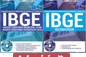 Apostilas Recenseador e Agente Censitário Municipal e Supervisor do Processo Seletivo do IBGE – 2017