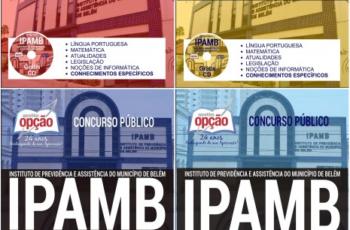 Apostilas de Estudo Concurso Instituto de Previdência e Assistência do Município de Belém – IPAMB / PA – 2017, cargos: Diversos Empregos