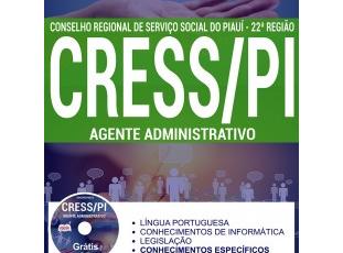 Apostila Concurso CRESS / PI – 2017, cargo: Agente Administrativo
