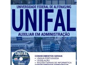 Apostila Auxiliar em Administração do Concurso Público da UNIFAL / MG – 2017