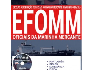 Apostila Oficiais da Marinha Mercante do Processo Seletivo da Marinha do Brasil – 2017