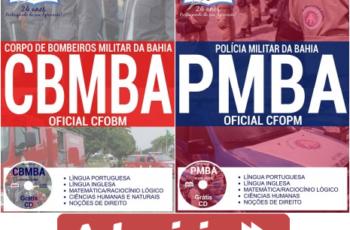 Apostilas Concurso para Admissão ao Curso de Formação de Oficiais PM e Oficiais BM / BA – 2017