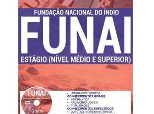 Apostila 5º Processo Seletivo Online da FUNAI – 2017, cargos: Estagiários de Níveis Médio e Superior