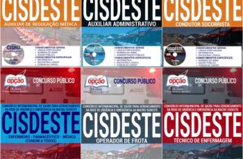 Apostilas Vários Empregos do Concurso Público do CISDESTE / MG – 2017
