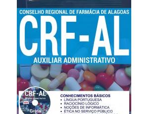Apostila Auxiliar Administrativo do Concurso Público do CRF / AL – 2017