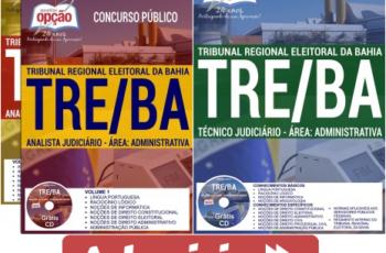 Apostilas de Estudo Concurso TRE / BA – 2017, cargos: Técnico Judiciário e Analista Judiciário