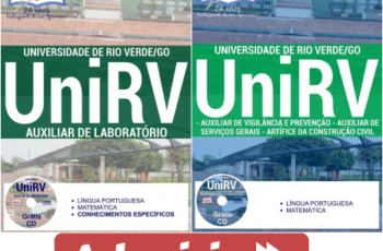 Apostilas Concurso Universidade de Rio Verde – UniRV / 2017, Diversos Empregos