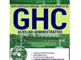 Apostila Auxiliar Administrativo do Processo Seletivo do GHC / RS – 2017