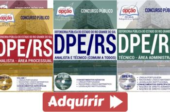 Apostilas Analistas e Técnicos do Concurso Público da DPE / RS – 2017