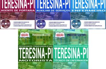 Apostilas Processo Seletivo Prefeitura de Teresina e FMS / PI – 2017, Vários Cargos