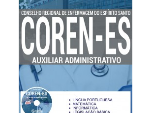 Apostila de Estudo Concurso COREN / ES – 2017, cargo: Auxiliar Administrativo