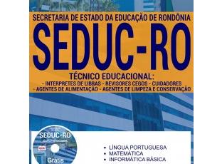 Apostila Técnicos Educacionais – Nível II do Processo Seletivo da SEDUC / RO – 2017