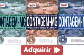 Apostilas Processo Seletivo de Contagem / MG – 2017, Professor e Agente de Educação Infantil