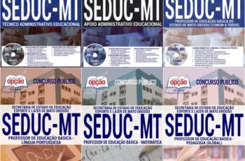 Apostilas Para Todos os Empregos do Concurso Público da SEDUC / MT – 2017