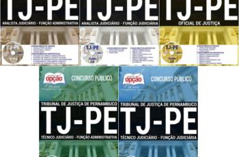 Apostilas Oficial de Justiça, Técnico Judiciário e Analista Judiciário do Concurso Público do TJ / PE – 2017