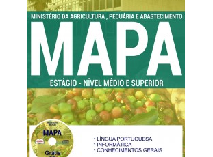 Apostila Processo Seletivo Simplificado MAPA – 2017, Estágio de Nível Médio e Superior