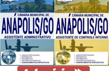 Apostilas Assistente Administrativo e Assistente de Controle Interno do Concurso da Câmara de Anápolis / GO – 2017