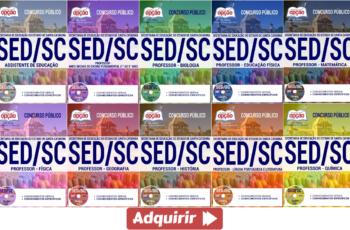 Apostilas Concurso SED / SC – 2017, Assistente de Educação e Professores