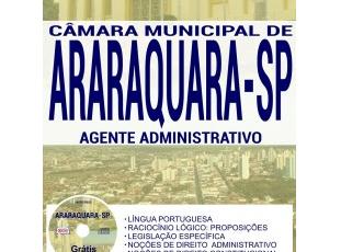 Apostila Concurso Público Câmara de Araraquara / SP – 2017, Agente Administrativo