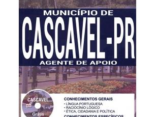 Apostila Agente de Apoio do Concurso da Prefeitura de Cascavel/PR – 2017