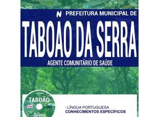 Material de Estudo Processo Seletivo Prefeitura Taboão da Serra – 2017, cargo: Agente Comunitário de Saúde