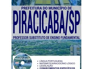 Apostila Professor Substituto de Ensino Fundamental do Processo Seletivo da Prefeitura de Piracicaba / SP – 2017
