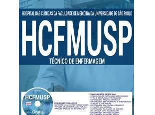 Material de Estudo Concurso HCFMUSP – 2017, cargo: Técnico de Enfermagem