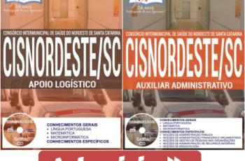 Apostilas Apoio Logístico e Auxiliar Administrativo do Concurso do CISNORDESTE – 2017