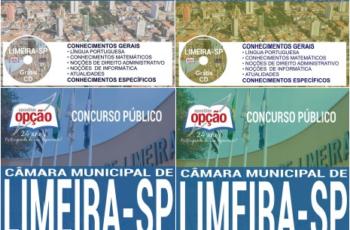 Apostilas Vários Cargos do Concurso da Câmara de Limeira / SP – 2017