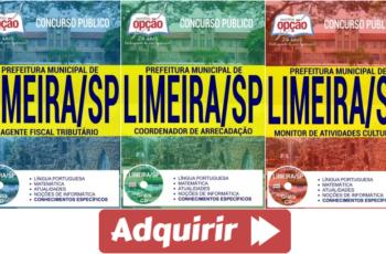 Apostilas Concurso Prefeitura de Limeira / SP – 2017, Coordenador de Arrecadação, Monitor de Atividades Culturais e Agente Fiscal Tributário