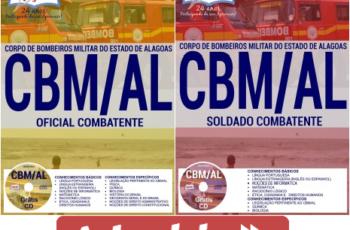 Apostilas Oficial Combatente e Soldado Combatente do Concurso Público do CBM / AL – 2017