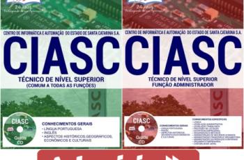 Apostilas Técnico de Nível Superior em Todas as Especialidades do Concurso Público do CIASC – 2017