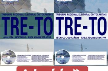 Apostilas Técnico Judiciário e Analista Judiciário do Concurso do TRE / TO – 2017