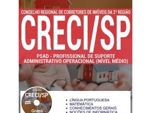 Apostila de Estudo Processo Seletivo CRECI / SP – 2017, Profissional de Suporte Administrativo Operacional Nível Médio