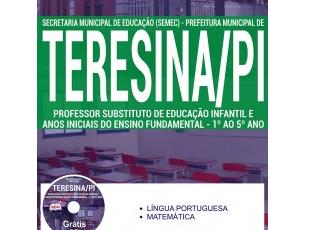 Apostila Processo Seletivo SEMEC Teresina / PI – 2017, Professor Substituto Anos Iniciais e Fundamental