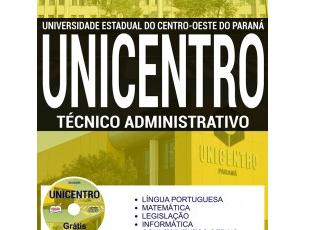 Apostila Técnico Administrativo do Teste Seletivo da UNICENTRO / PR – 2017