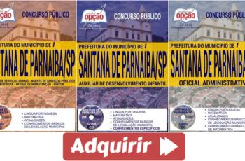Apostilas Concurso Prefeitura de Santana de Parnaíba / SP – 2017, Diversos Empregos
