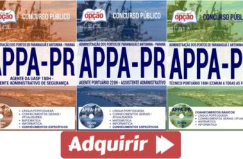 Apostilas Concurso APPA – 2017, empregos: Agente Portuário, Agente da UASP e Técnico Portuário